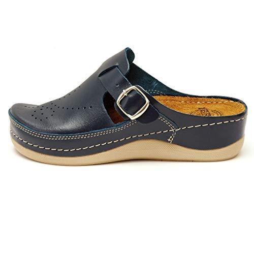 Dr Punto Rosso Medical Comfort 400SB Sandali Zoccoli Sabot Pantofole Scarpe  Pelle Donna d57cb5dedf9