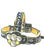 XYXYH Nuovo Bagliore a Lungo Raggio fari Illuminazione per Esterni luci Pesca Multi-Lampada Ricaricabile fari, 7 Teste, fari + Cavo USB + Scatola di Colore