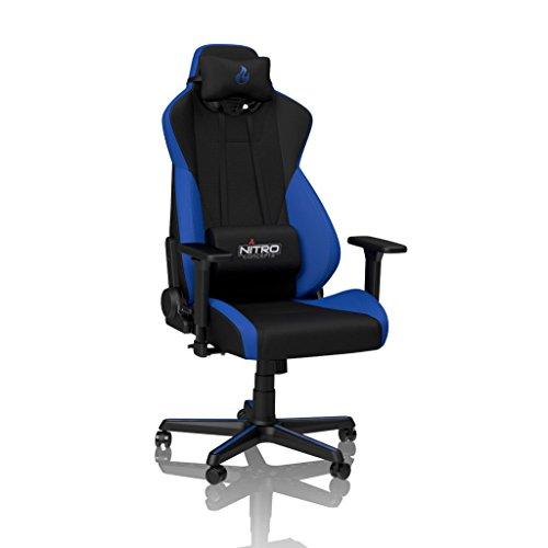 NITRO CONCEPTS S300 Gamingstuhl - Bürostuhl - Schreibtischstuhl - Stoffbezug - Galactic Blue (Blau)