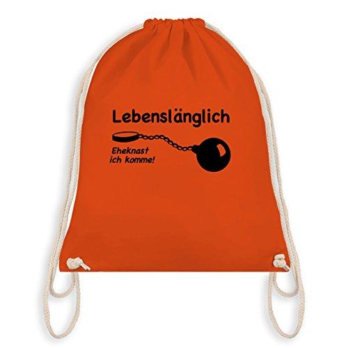 JGA Junggesellenabschied - Lebenslänglich - Eheknast ich komme - Turnbeutel I Gym Bag Orange