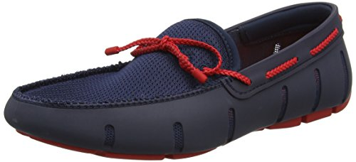 Swims Herren Braided Lace Loafer Bootschuhe Blue (Navy/Red)