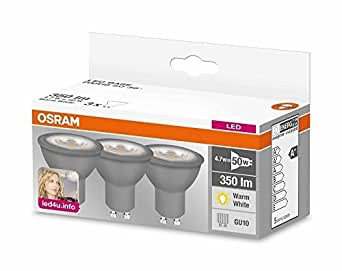 osram led base par16 led reflektorlampe mit gu10 sockel nicht dimmbar ersetzt 50 watt 36. Black Bedroom Furniture Sets. Home Design Ideas