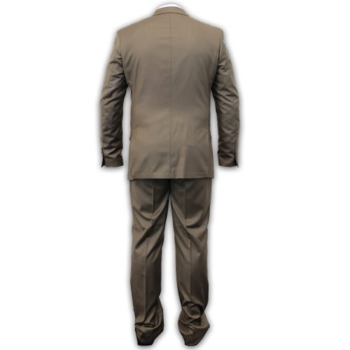 Hommes Voeut Blazer Pantalon Mélange Laine Suit 2 PIÈCES pantalon Manteau Veste Habillée DESIGNER Brun - REGENT