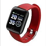 NIAY Sport Smart Watch Bracciale Fitness Multisport Impermeabile, Colore: Rosso