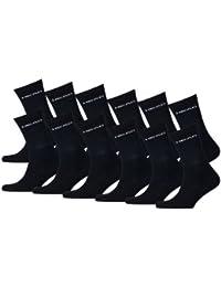 HEAD unisexe sport crew lot de 12 paires de chaussettes de sport avec dessous en éponge unisexe