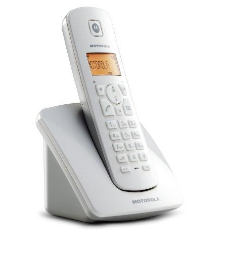Motorola DECT C401 Schnurlose Telefon (Monochrom Display, Freisprech-Funktion, 3-er Konferenz) grau