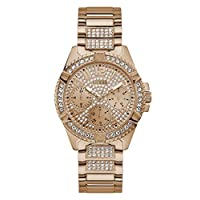 Guess Womens Quartz Watch, Analog Display and Stainless Steel Strap W1156L3
