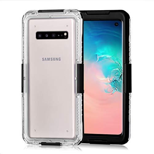 e4235048a97c zukabmw Samsung Galaxy S10 Waterproof Impermeable Caso, Agua Resistente  Caso con Screen Protector para Samsung