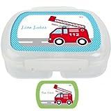 Brotdose mit Namen, Fahrzeuge, Frühstücksdose, Junge, eigene Lunchbox von Finlix