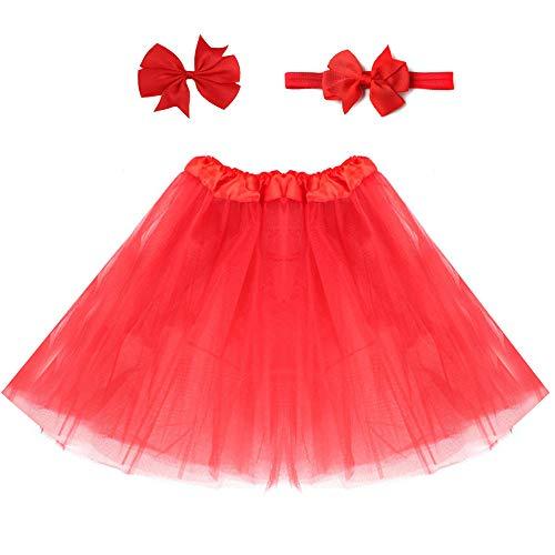 Kostüm Tanz Lebendige - Mädchen Tutu, Tutu Rock/Flauschige Tüll Tanz Kostüm Lebendige Farbe (senden Stirnband)