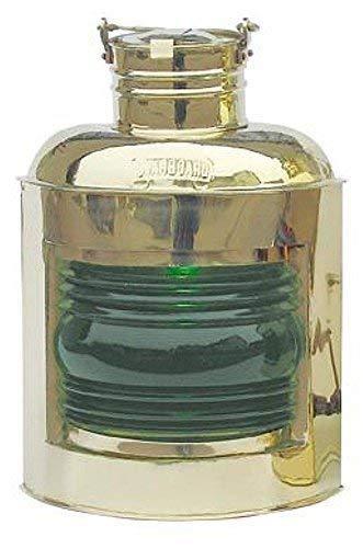 linoows Steuerbord-Lampe, Positions-Leuchte Petroleum, Rechte Schiffslaterne Grün 30 cm -