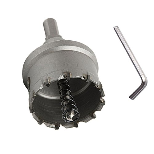 1 Stück Drill Bit Lochsäge Bohrdorn aus Hochleistungschnittstahl scharf Bohreinsatz für Schlösser zu installieren, Türknauf - Schwarz - 42mm
