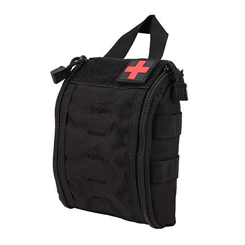 OTENGD Outdoor Tragbare Erste-Hilfe-Tasche, Medical Case Multifunktionale Hüfttasche Camping Klettern Notfalltasche Survival Kit für Abenteuer Wandern -