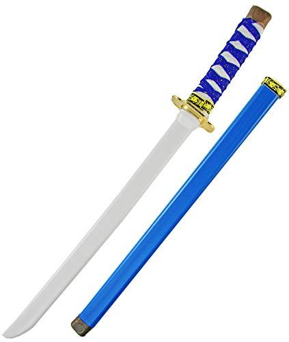 Nerd Clear Ninja Schwert für Kinder   Schwert & Scheide   60cm Länge aus Kunststoff   ideal für Karneval & Fasching: Farbe: Blau -