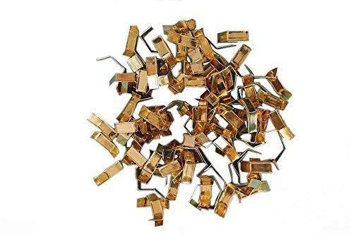 Verschlussclips - Beutelverschlüsse - Tütenverschlüsse, 33 x 8 mm (1000 Stück, GOLD GLÄNZEND)