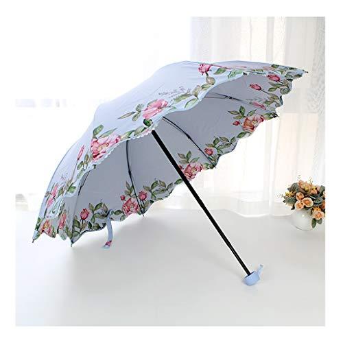 CS-YP Regenschirm, Klappschirm, 8 Rippen stark, schwarz lackiertes Eisen, Korrosionsschutz, langlebig, Winddicht (Farbe : D) - Lackiertes Eisen