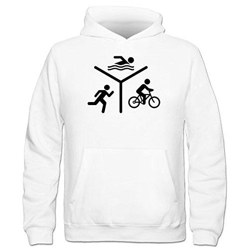 Shirtcity Triathlon Silhouette Logo Kinder Kapuzenpulli by