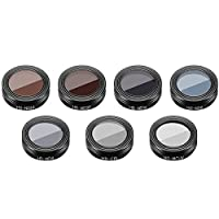 LoKauf 7Pcs Filter Kit UV+CPL+ND4+ND8+ND16+ND32+ND64 Drone Lens Filters Accessories for DJI Mavic Air