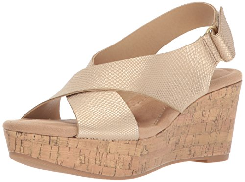 CL by Chinese Laundry Damen Dream Girl Goldfarben/Schlange 35.5 M EU Criss Cross Wedge