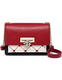 dbf23327c3c Bolso Femenino Coreano Moda Joker Hombro Messenger Bag Pequeños Bolsos  Cuadrados Bolso de Embrague de Cadena