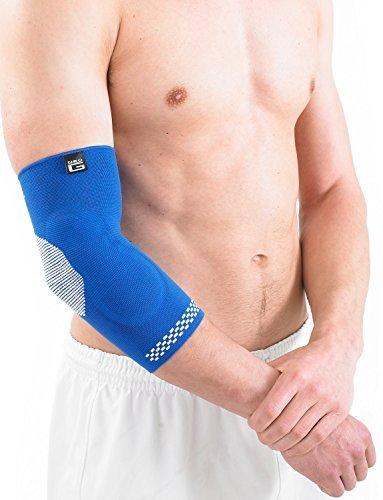 Neo G Airflow Plus Ellenbogenbandage-Groß-Blau-Medical Grade Qualität Ärmel, Multi Zone Kompression, leicht, atmungsaktiv, hilft mit Epicondylitis, Tennis/Golfer Ellenbogen-Unisex Bandage -