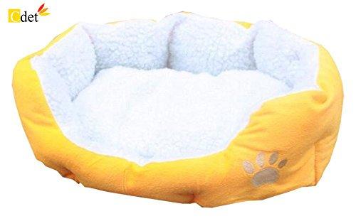 Cdet Cama para mascotas redonda o de forma oval dimple fleece nesting perro cueva para gatos y perros pequeños