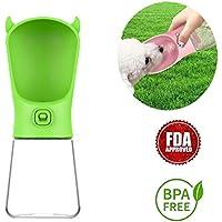 WANZIJING Pet Botella de Agua Potable Pet acompañando la Copa Incluyendo reemplazable Filtro de carbón Activado