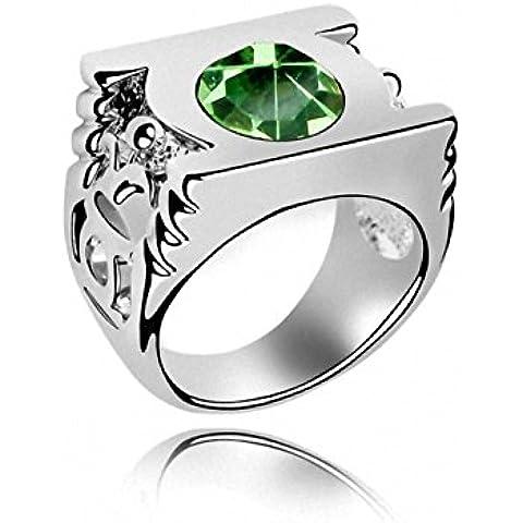 TAOTAOHAS del Anillos cristal [ Linterna verde, Peridot ] Talla 14 18KGP Rhinestone