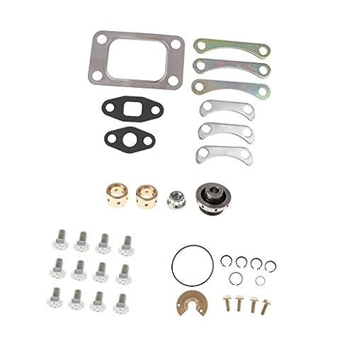 Gazechimp Kit de Réparation Turbo Rebuild + Gasket Pour T3/T4 T04E RBK-T3T4-571-G8