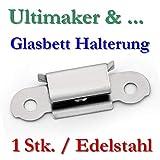 1x UM Glasplatten Halterung Klammer Edelstahl Klip
