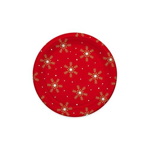 Kunststoffplatten mit Weihnachts-Design dekoriert - Sammlung von Schneeflocken - 18 cm - 6 Teile