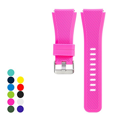 Cyeeson Samsung Gear S3 Frontier/ Gear S3 Classic Replacement Armband Weiche Silikon Adustable Band Gel Wristband Strap Watch Band für Samsung Gear S3 Frontier/ Gear S3 Classic (Klein) (Gelee Tory Burch)