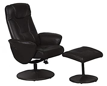 Turin Swivel Recliner Chair Reclining Armchair with FREE Matching Footstool - Black  sc 1 st  Amazon UK & Turin Swivel Recliner Chair Reclining Armchair with FREE Matching ... islam-shia.org