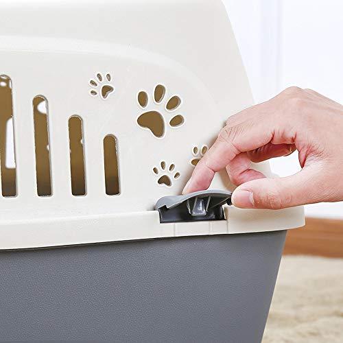 WRF PET Air Box Dog Car Portable Suitcase-Outdoor-Reise-Aircraft Boarding Gepäck Spring Lock Door Safe Transport Pet Easy zu verwenden Durable Easy und komfortable Demontage