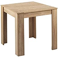 CAVADORE 90706 Tisch NICK / kleiner, praktischer Küchentisch 80 x 80 cm aus Melamin Sonoma Eiche / Esstisch in hellbraun Ton / Resistent gegen Schmutz / 80 x 80 x 75 cm (L x B x H)