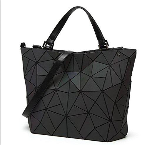 Die leuchtende Frauen Geometrie Lattic Totes gesteppte Kette Umhängetaschen Handtaschen einfach einklappen