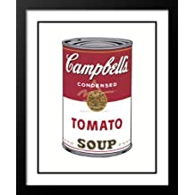 "Andy Warhol Framed and Double Matted Pop Art 23x20 ""Campbell's Soup I (Tomato), 1968"" by ArtDirect"