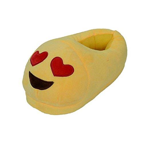 LATH.PIN Unisexe Peluche Chaussons Domicile Intérieur Chaud Mignon Emoji Hiver Chaussons Style 6
