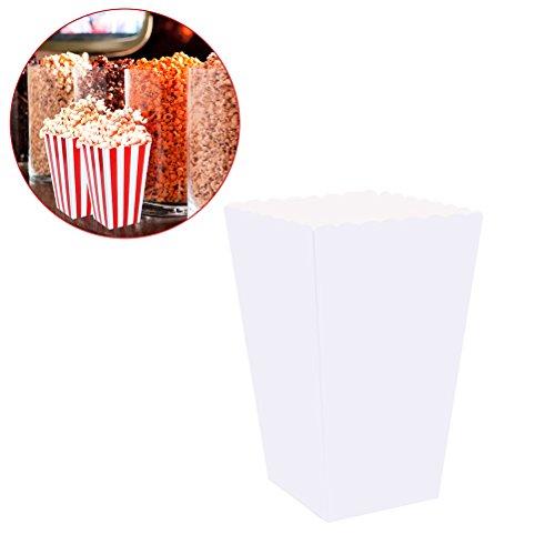 ten,Süßigkeit-Behälter-Kartone Papiertüten für Gastgeschenke,100pcs (weiß) ()