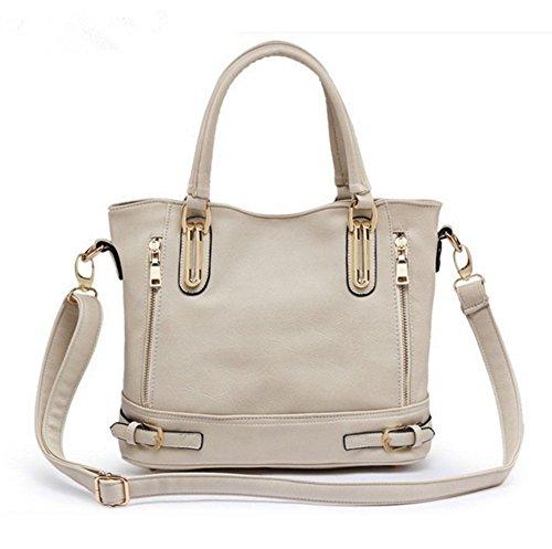 YAAGLE Damen Henkeltaschen elegant Handtasche weibliche Schultertasche praktisch Umhängetasche weibliche Tasche beige