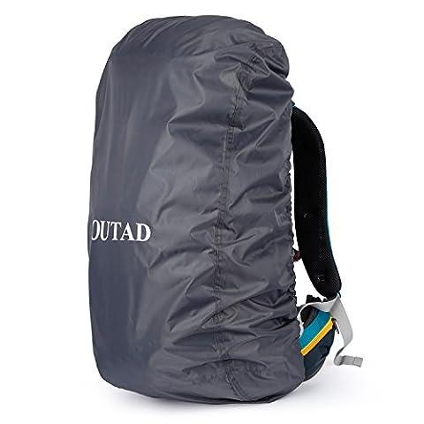 OUTAD Qualitäts Camping Wandern Rucksack Wasserdichte Regenschutz (Grau, L)