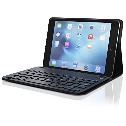 CSL - Tastatur mit Kunststoffcase für iPad mini 4 7,9 Zoll | Schutzhülle Tasche Cover Case | Multimedia-Funktionstasten | Bluetooth Keyboard | kompatibel mit Apple iPad