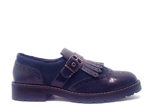 IGI & CO Schuhe 48340 schwarze Frau sportliche elegante Derby Fransen Farbe Blau