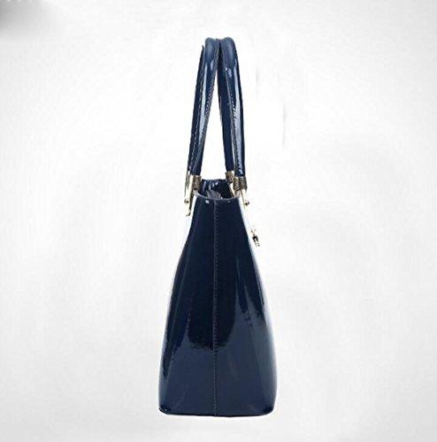 Frauen Handtaschen Mode Handtasche Schräge Kreuz Paket Tasche Schulter Tasche Hit Farbe Reißverschluss Black