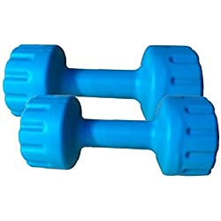 Aurion Matrix2 Plastic Dumbell Set, 4Kg (Blue/Green/Yellow)