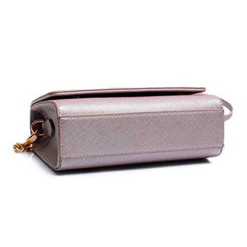 Piccolo Fashion Square Pacchetto Di Marea Semplice Selvaggio Messenger Bag Borse Della Spalla Sacchetto Casuale,Purple Purple