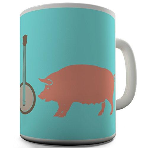 Funny Büro Secret Santa Geschenk Deliverance Pig Banjo von Twisted Envy, keramik, weiß, 15 OZ