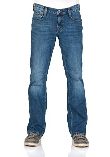 MUSTANG Herren Jeans Oregon - Bootcut - Blau - Denim Blue - Medium Blue - Mid Blue, Größe:W 36 L 34, Farbe:Medium Blue (1006280-702)