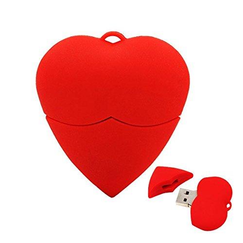 Cuore amare rosso 8 gb - red heart love - chiavetta pendrive - memoria archiviazione dei dati - usb flash pen drive memory stick
