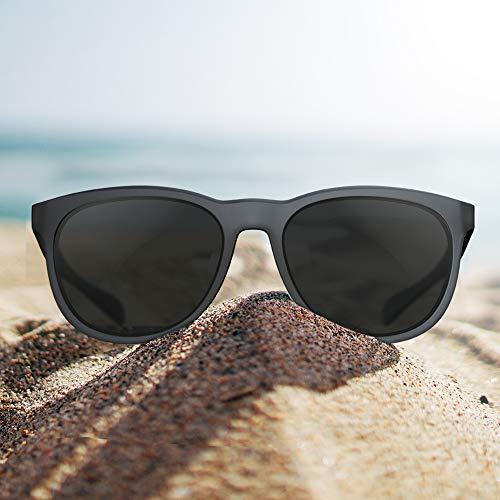 Avoalre polarisierte Sonnenbrille Damen Retro Sunglasses, 2019 Trend Vintage Style Verlaufsglas Metallbügeln 100% UV400 Schutz (Gray05-19)